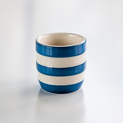 4 Eierbecher Cornishware Blau