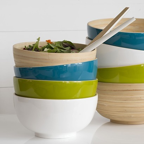 Salatschüssel Bambus S