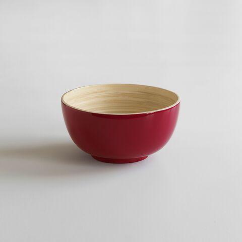Bambus Salatschüssel S Rot