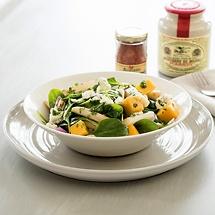 Gebratener Spargelsalat mit Chili-Vinaigrette