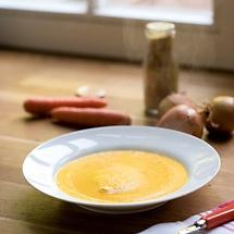 Karottensuppe mit Curry aus dem Vitamix-Blender