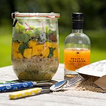 Mango-Quinoa-Salat im Weckglas (für 1 Liter Weckglas)