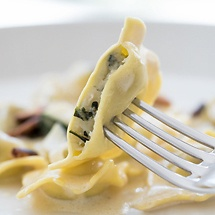 Ravioli mit Spinat-Ricotta-Füllung