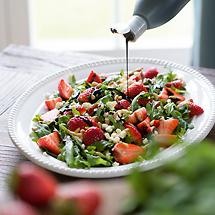 Rucola-Salat mit Erdbeeren