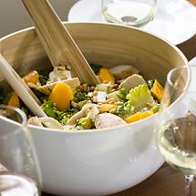 Salat mit Mango und Mozzarella
